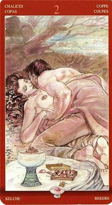 Двойка (2) Чаш – Участие. (Таро Магия Наслаждений)