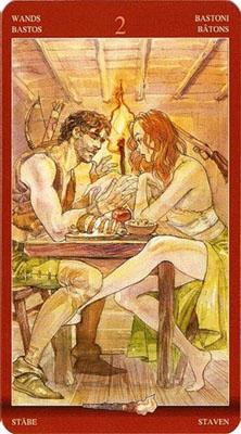 Двойка (2) Посохов - Близость. (Таро Магия Наслаждений)
