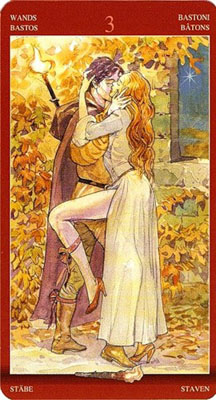 Тройка (3) Жезлов - Поцелуй. (Таро Магия Наслаждений)