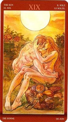 Карта (XIX) Солнце - Слияние. (Таро Магия Наслаждений)