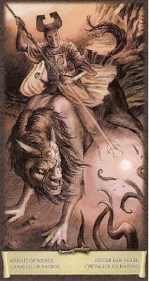 Рыцарь Жезлов - Приключение. (Таро Чёрный Гримуар)
