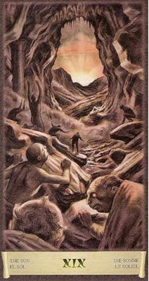 Карта (XIX) - Солнце. (Таро Чёрный Гримуар)
