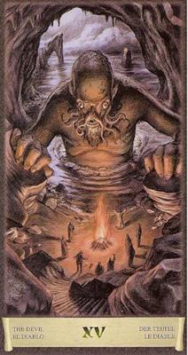 Карта (XV) - Дьявол. (Таро Чёрный Гримуар)