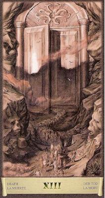 Карта (XIII) - Смерть. (Таро Чёрный Гримуар)