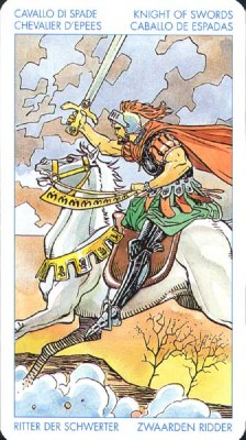 Рыцарь Мечей - Кризис. (Таро Уэйта)