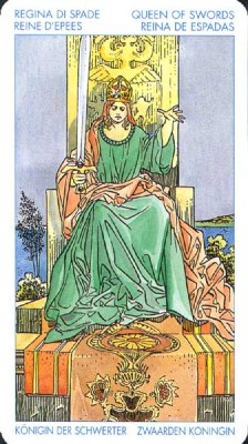 Королева Мечей (Классическое Таро Артура Уэйта)