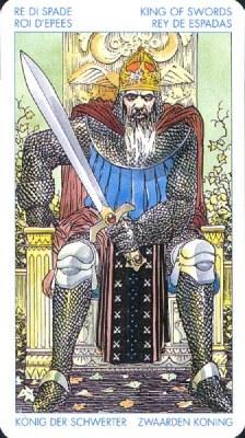 Король Мечей - Авторитет. (Таро Уэйта)
