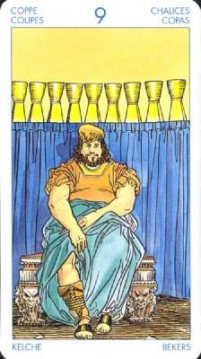 Девятка (9) Кубков - Блаженство (Таро Артура Уэйта)
