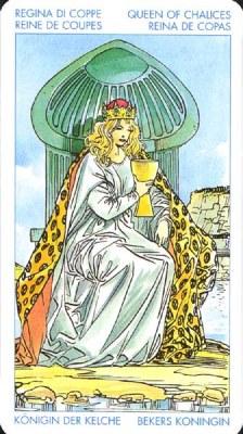 Королева Кубков - Любящая и сочувствующая. (Таро Уэйта)