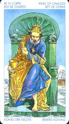 Король Кубков - Целитель.(Таро Артура Уэйта)