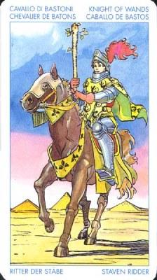 Рыцарь Жезлов - Огненная страсть. (Таро Уэйта)