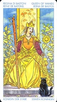 Королева Жезлов - Вдохновляющая. (Таро Уэйта)