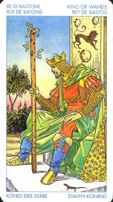 Король Жезлов - Творческий подход. (Таро Уэйта)