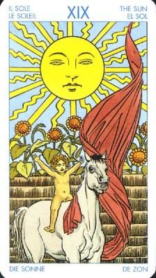 Карта (XIX) Солнце - Успех. (Таро Уэйта)
