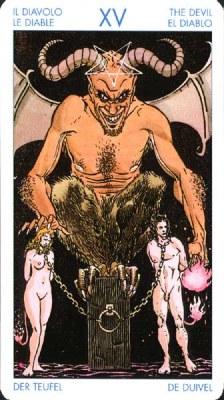 (XV) Дьявол - Искушения. (Таро Уэйта)